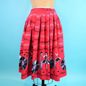Banned Dancing Days Retro Record Novelty Skirt | S